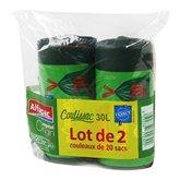 Sacs poubelle Alfapac 30L Poignées coulissantes - 2x20