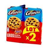 LU Cookies Granola - Extra eclats Chocolat et daim - 2x184g