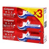 COLGATE Dentifrice max white optic 3x75ml