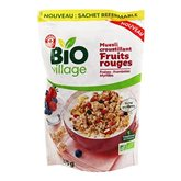 Muesli Croust Bio Village Fruits rouges - 375g