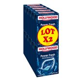 Chewing-gum Hollywood Power Fresh menthe forte- 2x70g