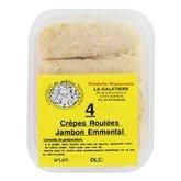 Crêpes roulées La galetière jambon emmental x4 - 360g