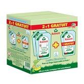 Lessive liquide Rainett Bicarbonate - 2x1.98L