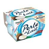 Yoplait Yaourts Perle De Lait Yoplait Noix de coco - 8x125g