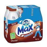 Lactel Lait arômatisé Max  Chocolat - 6x1L