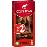 Côte d'Or Tablette de chocolat Côte d'Or Fondant noir - 2x200g