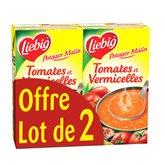 Liebig Soupe Potager Malin  Tomate/vermicelles - 2x1L