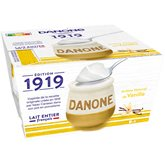 Danone Yaourt lait entier  Vanille - 4x125g