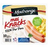 Madrange Mes Knacks Madrange 100% pur Porc - x10 - 330g