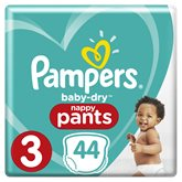 Pampers Couches Pampers Baby Dry T3 : 6/11kg - x44