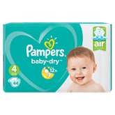 Pampers Couches Pampers - Baby Dry T4 : 9/14kg - x44 changes