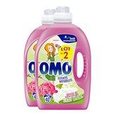 Omo Lessive semi-concentré Omo Rose & Lilas blanc - 2x2L