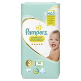Pampers Couches Pampers Premium Protect T3 : 6/10kg - x50 changes