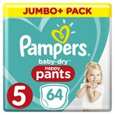 Pampers Couches Baby Dry Pampers Nappy Pants - T5 - x64 changes