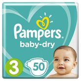 Pampers Couches Pampers Baby Dry T3 : 6/10kg - x50 changes