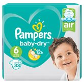 Pampers Couches Pampers Baby Dry T6 : 13/18kg - x33 changes