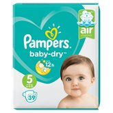 Pampers Couches Pampers - Baby Dry T5 : 11/16kg - x39 changes