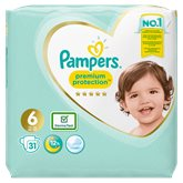 Pampers Couches Pampers Premium Protection T6 : 13+kg - x31