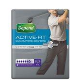 Depend Culotte Active-Fit Depend Homme - L/XL - x8