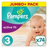 Pampers Couches Pampers Active Fit T3 : 5/9kg - x74 changes