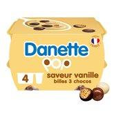 Danone Crème dessert Danette Pop Vanille billes soufflées 4x117g