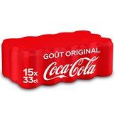 Coca Cola Canettes Coca-Cola Soda Gout original - 15x33cl