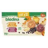 Blédina Purée de fruits Blédina Dès 8 mois - 12x100g
