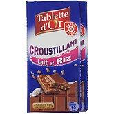 Chocolat Tablette d'Or lait riz