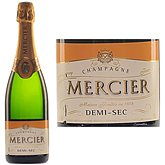 Champagne Mercier demi-sec