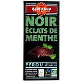 Chocolat Alter Eco noir menthe